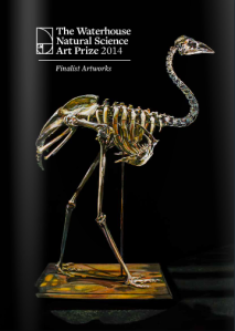 E Lindsay 2013 Extinct dwarf Kangaroo island emu (dromaius baudinianus) oil on belgian linen. Collection of the artist. Catalogue cover 2014 Waterhouse Natural Science Art Prize.